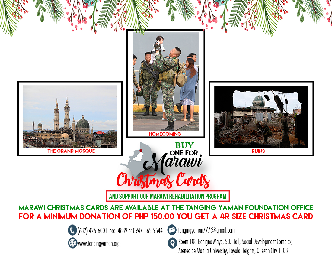 ONE FOR MARAWI CHRISTMAS CARDS NOW AVAILABLE